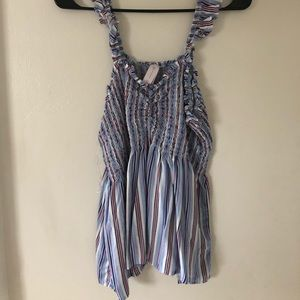 Elastic Stretchy Striped Tank Top